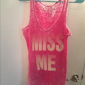 Miss Me glitter tank